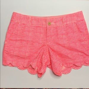 Lilly Pulitzer Pink Gingham Buttercup Short